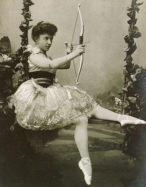 Sylvia (ballet) - Olga Preobrajenska in the title rôle of Sylvia. St. Petersburg, 1901