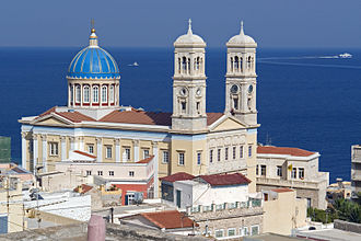 Ermoupoli - The Cathedral of Saint Nicholas, patron saint of the city.