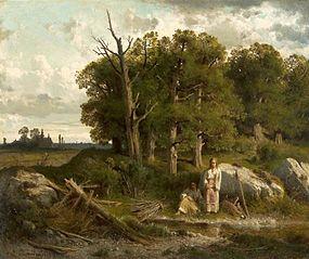 Oak forest.