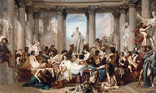 THOMAS COUTURE - Los Romanos de la Decadencia (Museo de Orsay, 1847. Óleo sobre lienzo, 472 x 772 cm)