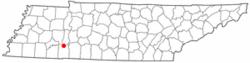 Location of Saltillo, Tennessee