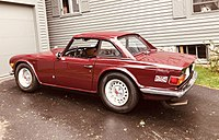 TR6 with factory steel hardtop