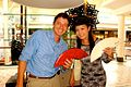 TV Presenter Jen Su with SA Handbag Designer Simon Keyser of Simon K.jpg