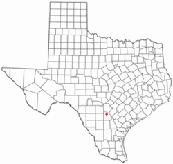 Location of Poteet, Texas