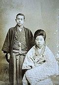Takuboku Ishikawa and his wife Setsuko.jpg