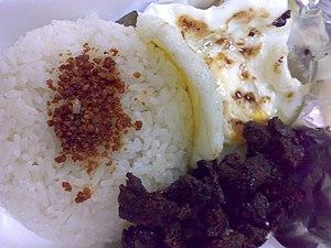 Tapa (Filipino cuisine) - Image: Tapsilog