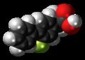 Tarenflurbil molecule spacefill.png