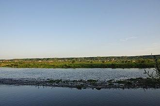 Trotuș River - The river Trotuș in Târgu Trotuș, Bacău County