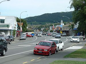 Tawa, New Zealand - Tawa's main shopping centre, photographed in December 2005.