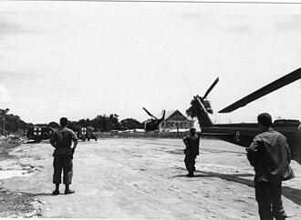 Tây Ninh (city) - U.S. Army heliport, Tây Ninh, 1971