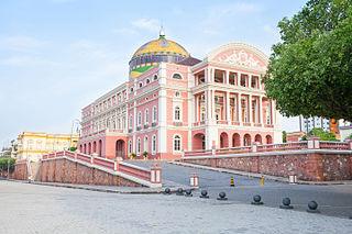 Amazon Theatre Opera house in Manaus, Brazil