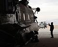 Technician Talks to Chinook Pilot MOD 45150448.jpg