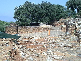 Dan (ancient city) - Tel Dan - Remains of the Iron Age (Israelite) Gate on the City's South Wall