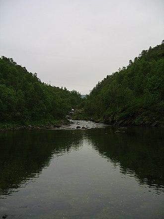 Skånland - The river Tennevikelva, Skånland.