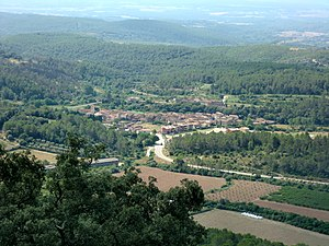 Terrades - View of Terrades, from mountain of Santa Magdalena
