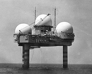 Semi-Automatic Ground Environment - In order to increase the warning time, radar systems called Texas Towers were placed out in the Atlantic Ocean using technology similar to Texas-style offshore oil platforms