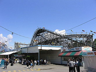 Wooden Roller Coaster (Playland) - Image: The Coaster Playland