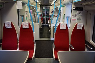 British Rail Class 387 - The 1st Class Interior of Gatwick Express 387218