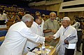 The Chief Minister of Madhya Pradesh Shri Babu Lal Gaur, the Chief Minister of Uttar Pradesh Shri Mulayam Singh Yadav, the Chief Minister of Karnataka Shri Dharam Singh.jpg