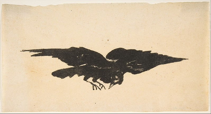 File:The Flying Raven, Ex Libris for The Raven by Edgar Allan Poe MET DP815457.jpg