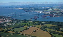 The Forth bridges from the air (geograph 5835049).jpg