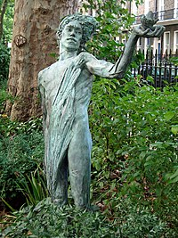 The Green Man by Lydia Kapinska, Woburn Square, London.JPG