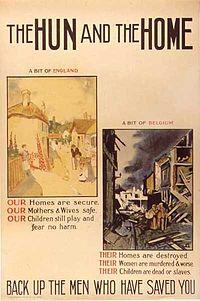 Első világháborús németellenes propaganda.