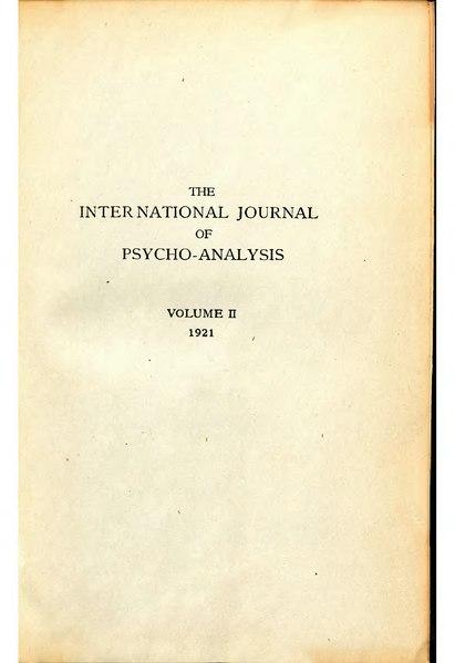 File:The International Journal of Psycho-Analysis II 1921 1.djvu