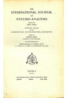 The International Journal of Psycho-Analysis II 1921 1.djvu