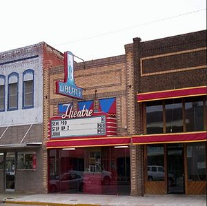 Carnegie, Oklahoma - The Carnegie Liberty Theatre in Carnegie