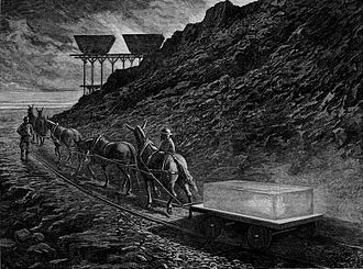 Slag - Image: The Manufacture of Iron Carting Away the Scoriae