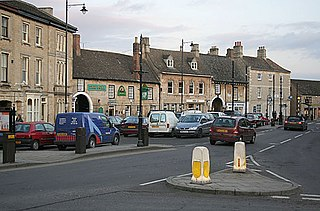 Market Deeping Town in Lincolnshire, England.