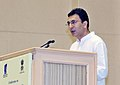 """The Minister of State for Road Transport and Highways, Shri Jitin Prasada addressing the """"Conference on Public Private Partnership (PPP) in National Highways Challenges & Opportunities"""", in New Delhi on September 12, 2011.jpg"""