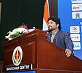 The Minister of State for Urban Development, Housing and Urban Poverty Alleviation, Shri Babul Supriyo addressing the concluding session of the Urban Mobility India Conference, in New Delhi on November 27, 2015.jpg