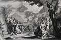 The Phillip Medhurst Picture Torah 461. God talks with Moses. Exodus cap 33 vv 6-9. Mortier.jpg