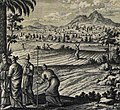 The Phillip Medhurst Picture Torah 590. The allotment to the Levites. Numbers 35 vv 4-5. Pinz.jpg