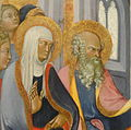 The Presentation of the Virgin, Paolo di Giovanni Fei, c. 1400, tempera on wood transferred to hardboard, view 3 - National Gallery of Art, Washington - DSC08911.JPG