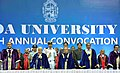 The President, Shri Pranab Mukherjee at the Annual Convocation of Goa University, in Goa on April 25, 2017. The Governor of Goa, Smt. Mridula Sinha and the Chief Minister of Goa, Shri Manohar Parrikar are also seen.jpg