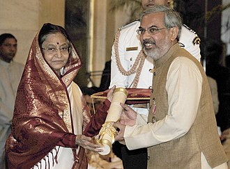 Kartikeya Sarabhai - The President, Pratibha Patil presenting the Padma Shri Award to Kartikeya Sarabhai, at an Investiture Ceremony-II, at Rashtrapati Bhavan, in New Delhi on April 04, 2012