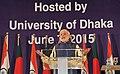 The Prime Minister, Shri Narendra Modi addressing at the Bangabandhu International Convention Centre, in Dhaka, Bangladesh on June 07, 2015.jpg