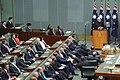The Prime Minister, Shri Narendra Modi addressing the joint session of Parliament of Australia, at Parliament House, in Canberra, Australia on November 18, 2014 (1).jpg