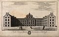The Royal Infirmary with figures and coat of arms, Edinburgh Wellcome V0012600.jpg