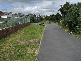 Fishponds railway station - The site of Fishponds railway station in June 2006.