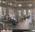 The Special Surgical Auxiliary Hospital at the 'star and Garter', Richmond - the dining room Art.IWMART3763.jpg
