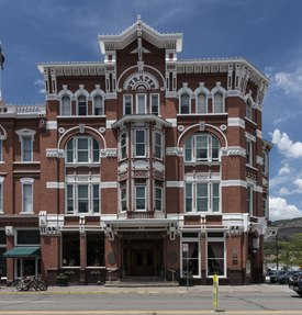 The Strater Hotel, opened in 1888 during a mining boom in Durango, Colorado LCCN2015632887.tif
