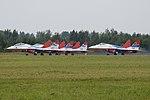 The Swifts (Strizhi) – ARMY 2017, Kubinka Airbase 23-8-2017 (36709390753).jpg