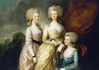 Lady Charlotte Finch - The three eldest daughters of George III, 1784