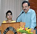 The Union Minister for Science & Technology, Earth Sciences and Environment, Forest & Climate Change, Dr. Harsh Vardhan addressing a function, during his visiting to the campus of Zoological Survey of India, in Kolkata.JPG
