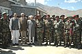 The Vice President, Shri Mohd. Hamid Ansari with the Defence Personnel during his visit to Kargil, in Jammu & Kashmir on June 21, 2009.jpg