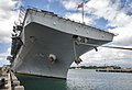 The amphibious assault ship USS Boxer (LHD 4) sits pierside as the ship arrives at Joint Base Pearl Harbor-Hickam, Hawaii, April 15, 2014 140415-N-WF272-067.jpg